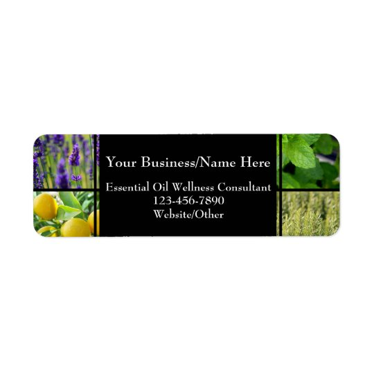 Herbal Essential Oil Business Bottle Contact Return Address Label