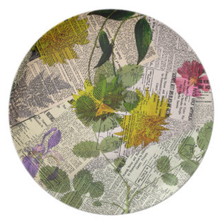 Herbarium Melamine Plate