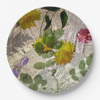 """Herbarium Paper Plates 9"""""""