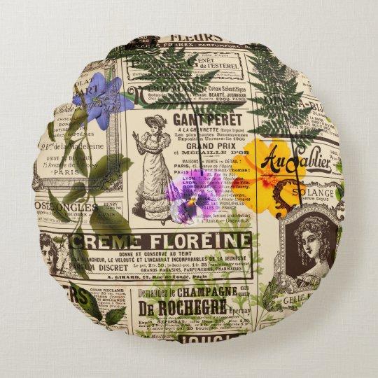 "Herbarium Round Throw Pillow (16"")"