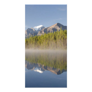 Herbert Lake at Icefields Parkway Alberta Canada Personalized Photo Card