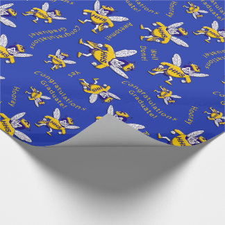 Herbie the Hornet Graduation Wrapping Paper