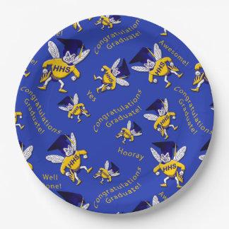 Herbie the Hornet w/Graduation Cap Paper Plates