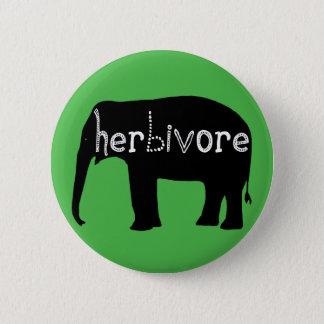 Herbivore - Elephant - Green 2 Inch Round Button