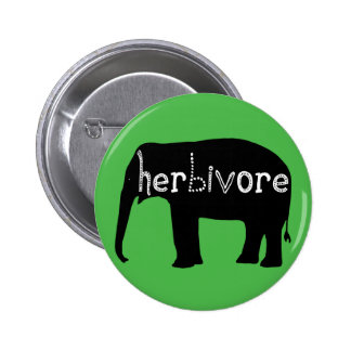 Herbivore - Elephant - Green 2 Inch Round Button