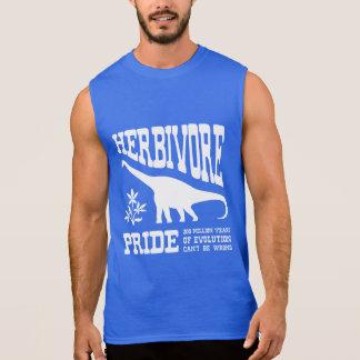Herbivore Pride Vegetarian Dinosaur Silhouette Sleeveless Shirt
