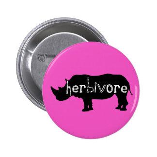 Herbivore - Rhino - Pink 2 Inch Round Button