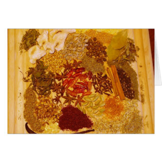 Herbs and Spices Collage Card