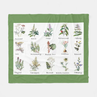 Herbs and Spices full color illustrations blankets