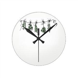 Herbs Round Clock
