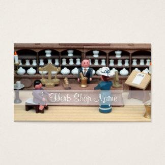 Herbs shop dollhouse business card