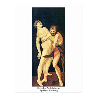 Hercules And Antaeus By Hans Baldung Postcard
