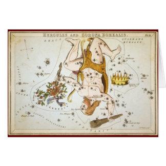Hercules and Corona Borealis Card