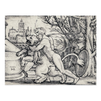 Hercules Killing The Nemean Lion Postcard