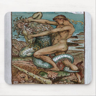 Hercules & the Old Man of the Sea Mousepad