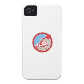 Hercules Wielding Club Circle Retro iPhone 4 Case-Mate Case