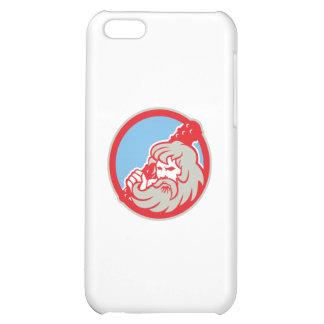 Hercules Wielding Club Circle Retro iPhone 5C Cases