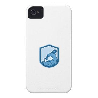 Hercules Wielding Club Shield Retro Case-Mate iPhone 4 Cases