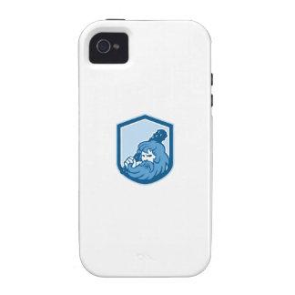 Hercules Wielding Club Shield Retro Case-Mate iPhone 4 Cover