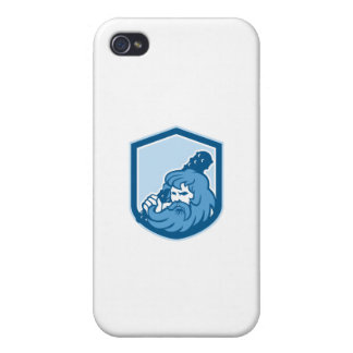 Hercules Wielding Club Shield Retro Case For The iPhone 4