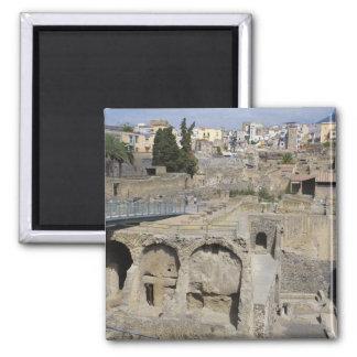 Herculium, Ercolano, Campania, Italy Square Magnet