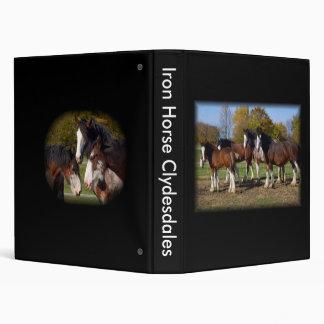 Herd Iron Horse Clydesdales Vinyl Binder