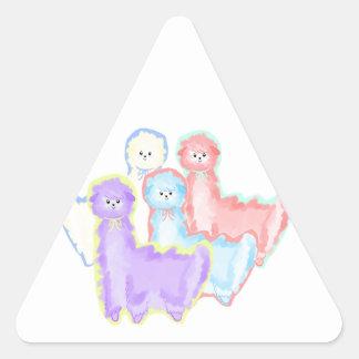 Herd of Alpacas Triangle Sticker