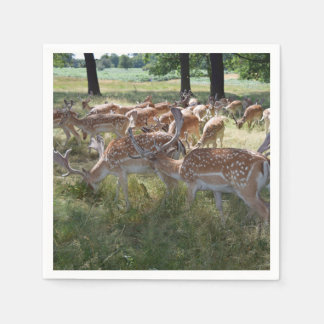 Herd of deer paper napkin