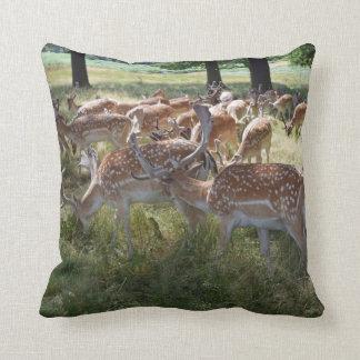 Herd of deer throw cushion