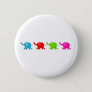 Herd of Elephants 2 Inch Round Button
