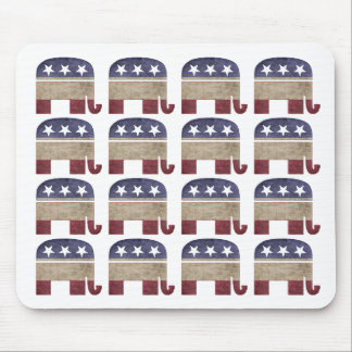 Herd of Elephants Republican GOP Mouse Pad