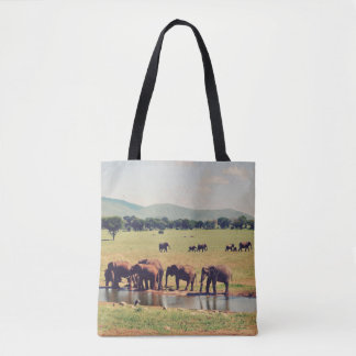 Herd of Elephants Tote Bag