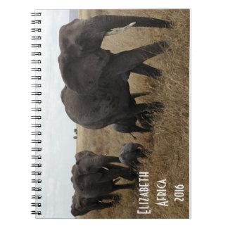 Herd of Elephants walking Notebook