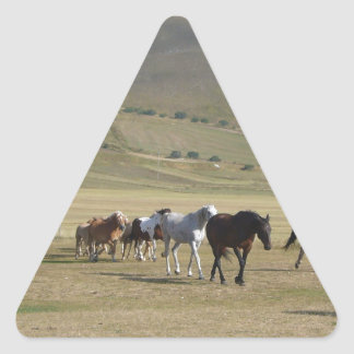 Herd of Horses Triangle Sticker