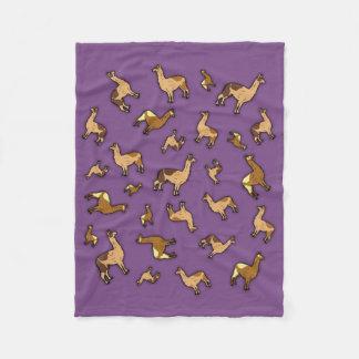 Herd of Llamas Fleece Blanket