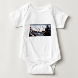 Herd Of Mountain Yaks Himalaya Baby Bodysuit