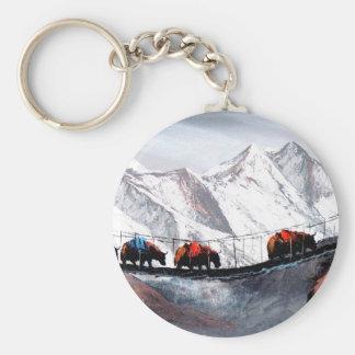 Herd Of Mountain Yaks Himalaya Keychain