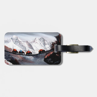 Herd Of Mountain Yaks Himalaya Luggage Tag