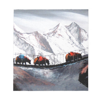 Herd Of Mountain Yaks Himalaya Notepad