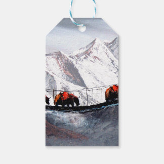 Herd Of Mountain Yaks Himalaya Pack Of Gift Tags