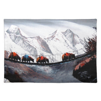 Herd Of Mountain Yaks Himalaya Placemat