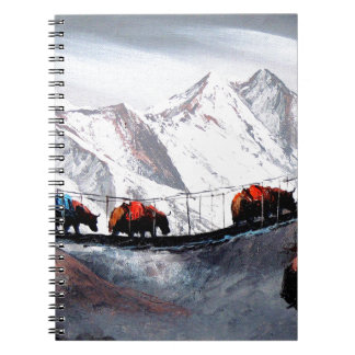 Herd Of Mountain Yaks Himalaya Spiral Notebook