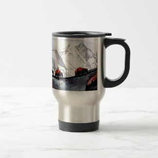 Herd Of Mountain Yaks Himalaya Travel Mug