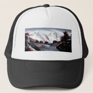 Herd Of Mountain Yaks Himalaya Trucker Hat