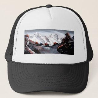 Herd Of Mountain Yaks Himalaya Trucker Hat