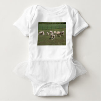 Herd of sheep baby bodysuit