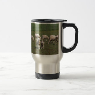 Herd of sheep travel mug