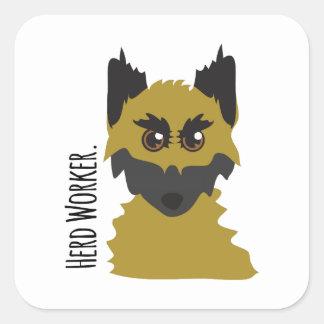 Herd Worker Square Sticker
