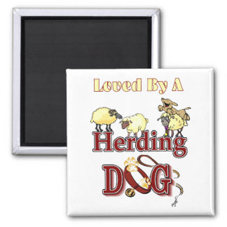 Herding Dog Owners Gifts Square Magnet