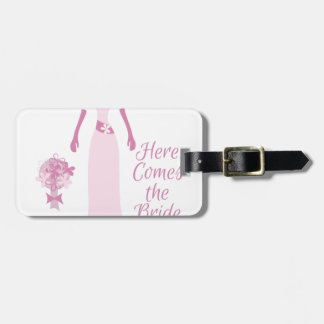 Here Come The Bride Luggage Tag